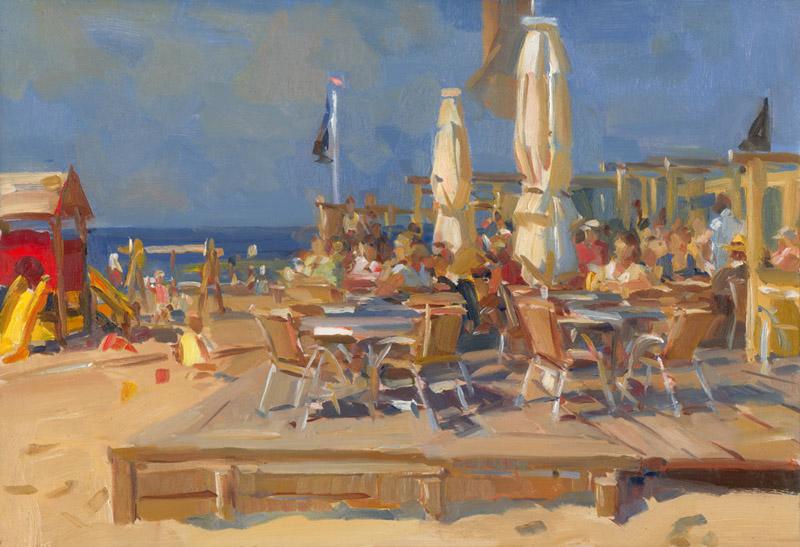 Schilderijen op locatie geschilderd - Foto van het terras ...